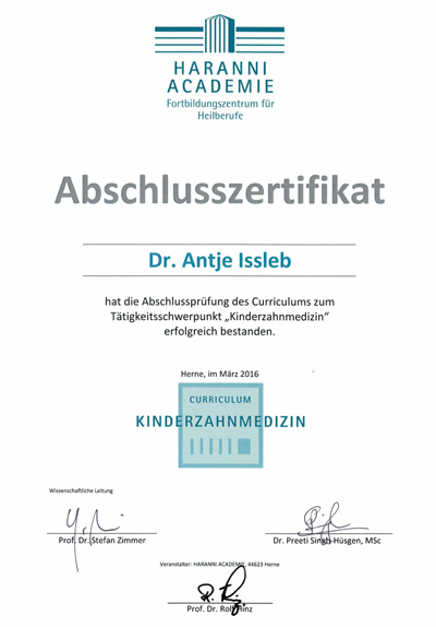 Zertifikat - Dr.-Antje-Issleb-2016-03