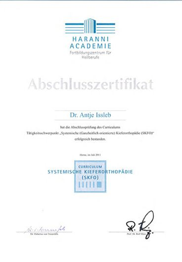 Zertifikat - Dr.-Antje-Issleb-2011-07